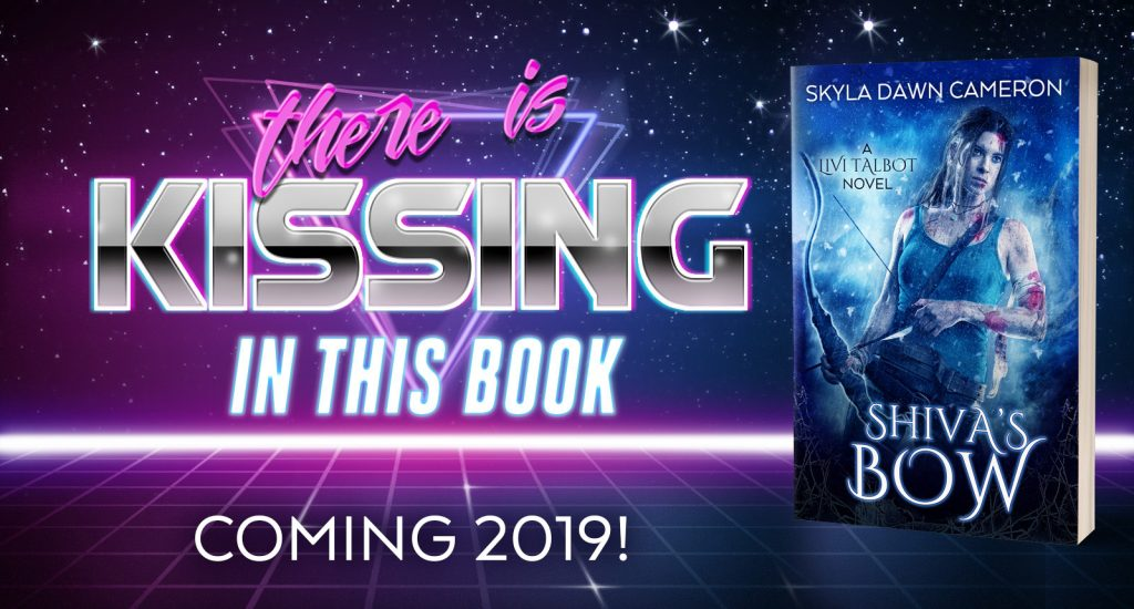 There is kissing in this book. Shiva's Bow, coming 2019.